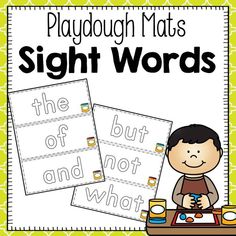 FREEBIE: Playdough Mats - Fry First 100 Sight Words   Your students will love practicing their sight words with these fun playdough mats! Students can use playdough to outline each word on the mats. One set of mats has small playdough clipart in the corner and the other set has only the word. There is one mat for each sight word in the Fry First 100 set. Simply print and laminate these mats for long term use.