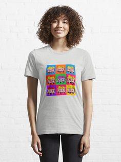 'Wanderly Warhol' - Pop art wagon design. #ireland #irishtv #irish #popart #warholstyle #irishgifts #irishcraic #irishartists #irishart #govisitireland #dublin #galway #donegal #irishgiftideas #irishnostalgia #irishinamerica #irishfans #irishabroard #irishtelevision Gamer T Shirt, Vintage Japanese, Tshirt Colors, Female Models, Classic T Shirts, Nostalgia, Shirt Designs, T Shirts For Women, Tees