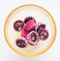 suklaakonvehdit suolalla ja pähkinöillä