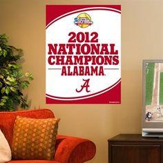 "Alabama Crimson Tide 2012 NCAA Women's Softball College World Series Champions 27"" x 37"" Vertical Banner"