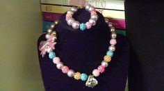 For a princess necklace/bracelet set by AdoraBeadz on Etsy