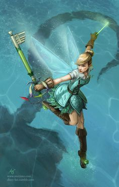 Tinkerbell with the Keyblade Fairy Harp (フェアリーハープ) Fifth one in the series, and more coming!