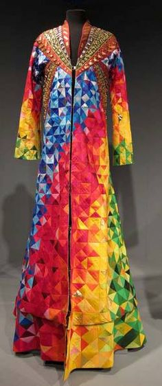De jas uit de musical Joseph and the Amazing Technicolor Dreamcoat. Ontworpen door Cocky van Huijkelom en uitgevoerd door Pelger van Laar.