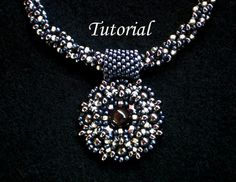 Tutorial Gunmetal necklace with pendant  Bead pattern by Ellad2, $7.00