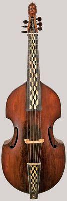 NMM 4573.  Tenor viola da gamba by Gregor Karp, Koenigsberg, East Prussia, 1693.