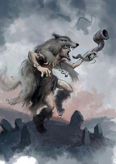 """Ulfhednar  An interesting depiction of Norse myth. Such skin-changers are now called Werewulf, or loup garou, In ancient times it was respected as a warrior--not a monster.  Their ferocity in battle was much admired.  Even in the Middle Ages, when such sorcery was condemned as witchcraft, one accused werewolf asserted that, far from consorting with the Devil, he was """"God's Dog.""""  {For more on the subject, see chapter 15, Dixie Spirits:  http://www.sourcebooks.com/store/dixie-spirits.html}"""