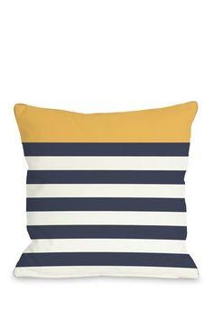 Nautical Stripe Mimosa Pillow by Lightning E-Commerce on @HauteLook