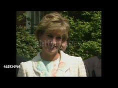 May 13, 1996: Princess Diana and Gaby Roslin at Push 2000 - International Spinal Research Trust in London. Press call. Video.