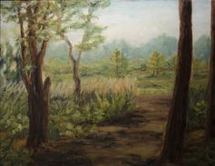 Landscape oil plein air sketch