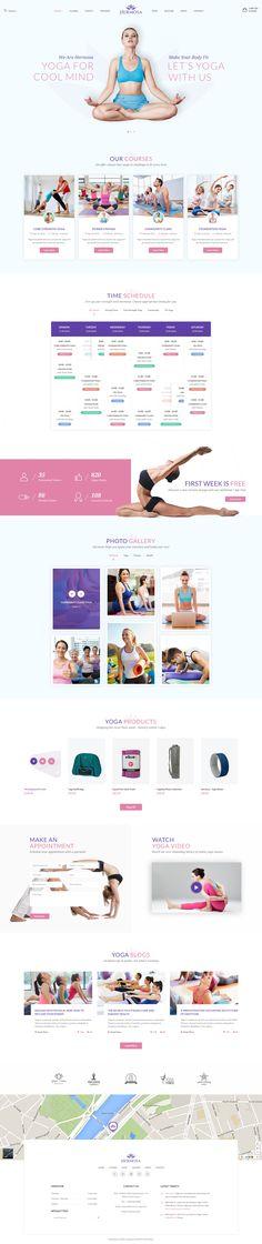 Beautiful Yoga Websites