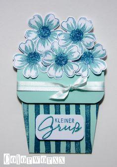 Blumentopfkarte mit Stampin Up