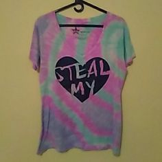 Tie Die Tee Sz L Tie Dye Tee Sz L...super cute tie dye tee with glitter graphic Tops Tees - Short Sleeve