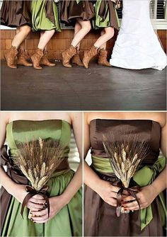 Camoflauge bridesmaid colors