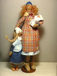 """Купить """"Мамино счастье"""", 3 - кукла Тильда, семья, рождение ребенка, малыш, мамочка, новорожденный"""