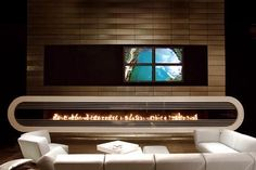 Top 10 Creative and Unusual Fireplaces - This impressive looking wide range fireplace from Attika Feuer is super modern with a very fresh design, but dare I say it also has a little tough of retro about it. Indoor Gas Fireplace, Fireplace Frame, Linear Fireplace, Fireplace Design, Gas Fireplaces, Modern Fireplaces, Fireplace Ideas, Fireplace Inserts, Minimalist Fireplace