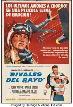 "Movie Posters:Drama, Jet Pilot (RKO, 1957). Argentinean Poster (29"" X 4..."