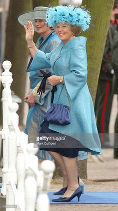 Queen Beatrix and Mabel's Mother. I think this is the best outfit Queen Beatrix has worn