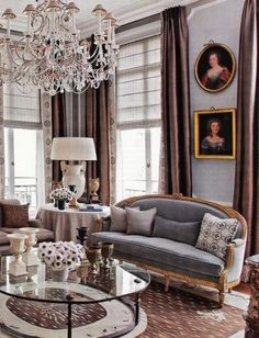 Modern and vintage furniture goes great together in this Parisian styled room