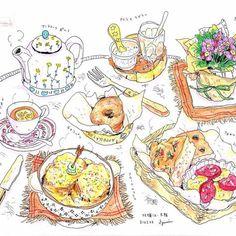 進路遍歴Part6→話は少し戻り、渡英を決めた時点では目的は曖昧だった中、ある時本屋で「絵を描きたいあなたへ」永沢まこと氏の著書と出会い、自分の中のスタイルはコレだ!と再確信。その本と一緒に渡英しました。帰国後ファンレターを出し、憧れだった永沢氏との交流がそこから始まります Morning! #bread #breakfast #bagel #focaccia #croquemonsieur #tea #teapot #flowers #onthetable #パン #朝ごはん #クロックムッシュ #ベーグル #フォカッチャ