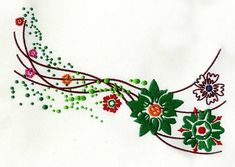 Flower Motif Digital Machine Embroidery Design