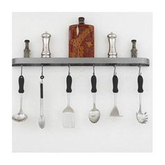 """Hi-Lite Sterling 34"""" Wall Mounted Pot Rack Accent Finish: None, Base Finish: Black Leather"""