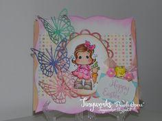 "TinyWorks: Card Happy Ester "" DT Simply Magnolia"""