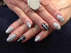 Dawn's nails. Sparkling cross gel nail art.