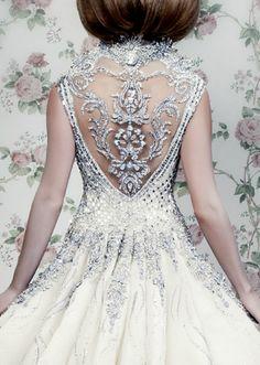 A beautiful Michael Cinco wedding dress design.