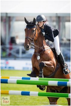 Alicia Heininger (SUI)  & Dolce d'Ive Z - Photo Equi - Show Jumping CSI Chantilly 2016