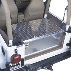 Tuffy Security Products Aluminum Rear Cargo Storage Box for 76-10 Jeep CJ-5, CJ-7, CJ-8 Scrambler, Wrangler YJ, TJ JK & Unlimited