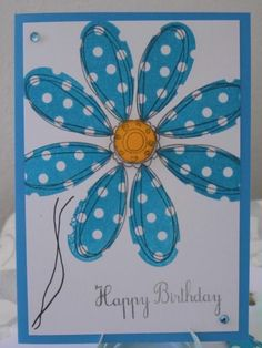 Handmade Card Making, Handmade Cards, Diy Cards, Stampin Up Cards, Birthday Cards, Daisy, Greeting Cards, Frame, Floral