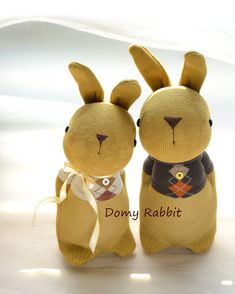 Grace -- sock bunny Domy Rabbit  #handmade #craft #sockdoll Sock Bunny, Sock Dolls, Sock Animals, My Socks, Rabbit, Reusable Tote Bags, Christmas Ornaments, Toys, Holiday Decor