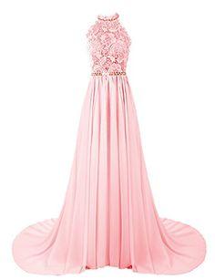 Dresstells Women's Halter Long Prom Dresses Bridesmaid We...