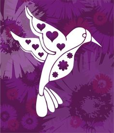 4 Wide EW Designs Pretty Watercolor Flower Hummingbird Heart Cartoon Vinyl Decal Bumper Sticker