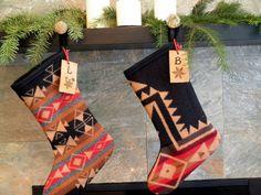 Native American tribal pattern stockings