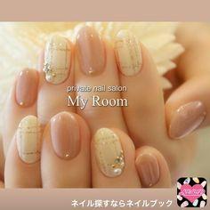 マイルーム My Room~private nail Love Nails, Pretty Nails, Asian Nail Art, Usa Nails, Plaid Nails, Bridal Nails, Japanese Nail Art, Gel Nail Designs, Beautiful Nail Designs