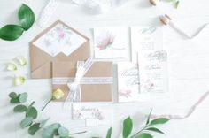 Свадебная полиграфия с применением крафт-бумаги