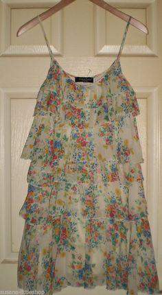 ADELE FADO Floral SILK Party FLAPPER DRESS Size 8