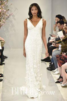 Theia Emilia Embroidered V-Neck Wedding Gown Spring 2018 | Brides