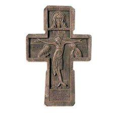 Crucifix, $25.00, catalog of St Elisabeth Convent. Made to order.  #crucifix #cross #church #icon #orthodox #life #God #Jesus #Christ #faith #love #handmade #catalogofgooddeed #ordericon #buyicon #christianity #messiach #gypsum #polymer