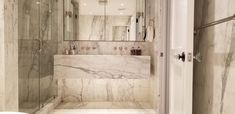 Great capture of a great example of marble slabs! Natural stone can be a wonderful product to use in your bathroom installation. Marble Slabs, Calacatta Marble, Marble Tiles, Bathroom Installation, White Marble, Natural Stones, Bathtub, House Design, Interior Design