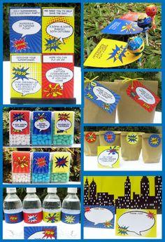 Printable Superhero Party Collection - PaperSprinkles.com.au
