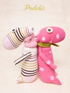 pupazzi per bambini by Podobis, soft toy, pink toys, children, #cute #softoy #socksdolls