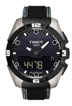 d112b75a5a2 Tissot T-Touch Expert Solar Black Analog Digital Dial Black Leather Mens  Watch