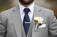 Navy and grey my wedding colors; Wedding Men, Wedding Groom, On Your Wedding Day, Dream Wedding, Mens Grey Wedding Suits, Wedding Attire, Trendy Wedding, Wedding Tuxedos, Groom Attire