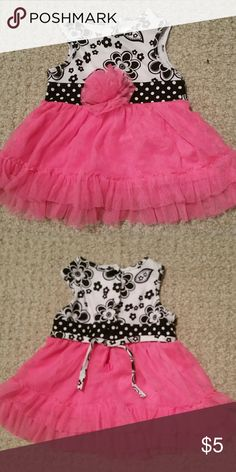 Baby dress Cute dress with pink tutu.  Great condition! Youngland Dresses Casual