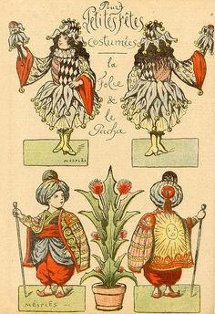 """""""Petites fêtes costumées"""", découpages (1921). 2 by pilllpat (agence eureka), via Flickr"""