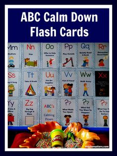 These cards give children 25 different ways to calm down from A to Z.  Perfect for children who struggle with temper tantrums and meltdowns.