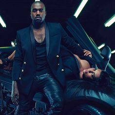 Kim and Kanye for Balmain menswear spring/summer 15