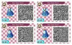 ACNL QR CODE-Blue Dairy Dress